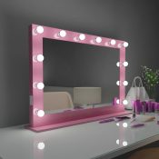 HOLLYWOOD MIRROR DOTS PINK