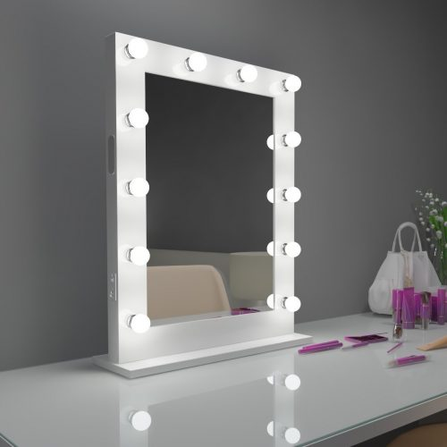 HOLLYWOOD MIRROR DOTS WHITE